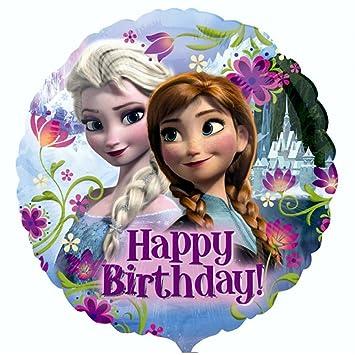 Globo feliz cumpleaños 43 cm Disney Frozen Reina de HIelo ...