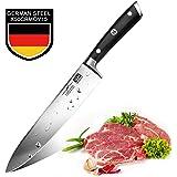 SHAN ZU Cuchillo de Cocinero Acero de 3 Capas Cuchillo de ...