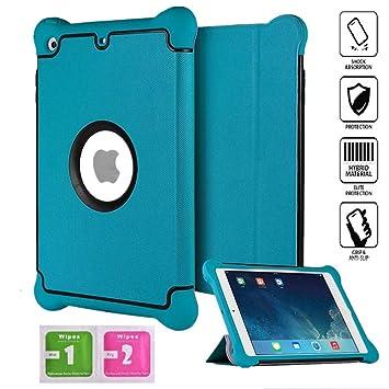 Aken®, funda de iPad Mini 4: piel de alta calidad, a prueba de niños y de golpes con silicona + PC [ajuste perfecto] carcasa de encendido automático ...