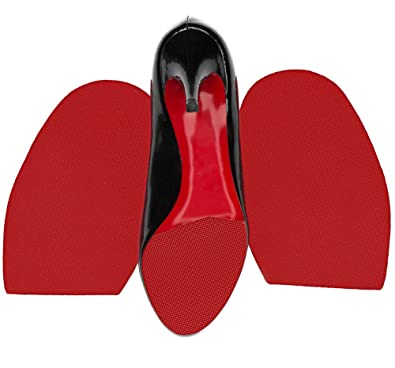 Protect Our Sole Red Rubber Sole Repair For Christian Louboutin Heels Half Soles