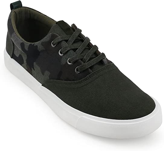 Corporate Casuals AORFEO Mens Faux Outdoor Casual Sneakers Leather Casuals Canvas Shoes Party Wear Casuals Outdoors Sneakers Casual 7010