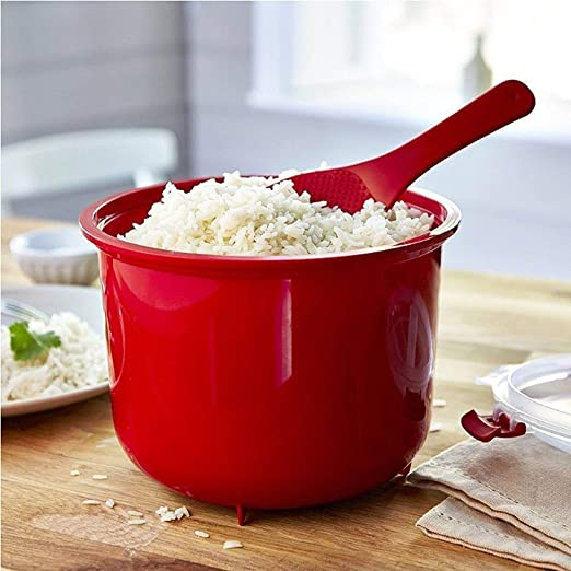 Fuente de horno para cocinar arroz cocido al vapor en un ...