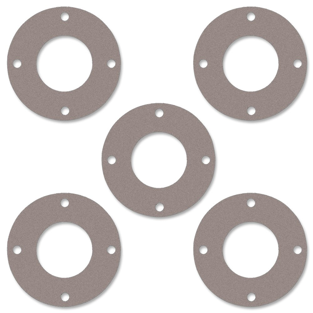 Pack of 5 Pressure Class 150# 1.31 ID Sterling Seal CFF7540.100.125.150X5 7540 Vegetable Fiber Full Face Gasket 1//8 Thick 1 Pipe Size