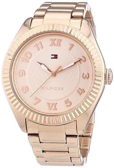 Tommy Hilfiger 1781344 - Reloj de cuarzo para mujer, correa de acero inoxidable chapado color
