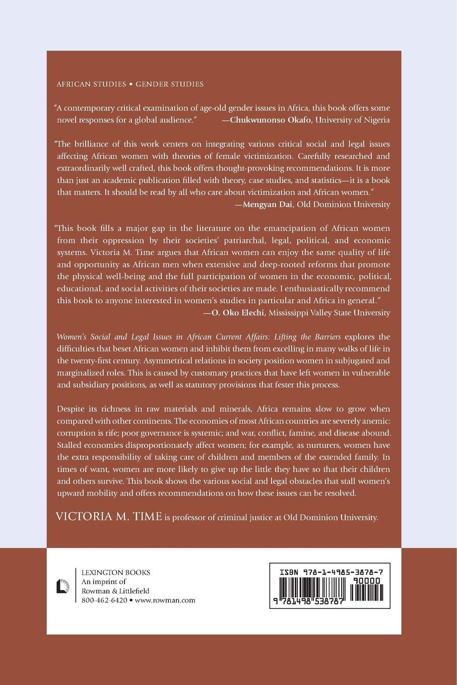 Buy Women's Social and Legal Issues in African Current Affairs