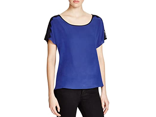 Dora landa lace applique top bloomingdale s exclusive sapphire