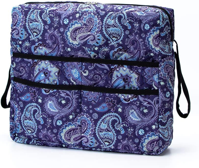 Walker Bag, Walker Accessories Basket, Large Capacity Tote Caddy Pouch Compatible with Walker,Wheelchair and Rollator,Folding Organizer Pouch for Elderly,SeniorsAnd Disabled (Purple Flower Print): Health & Personal Care
