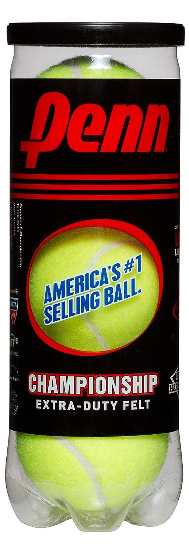 Penn Championship Tennis Balls - Extra Duty Felt Pressurized Tennis Balls - (2 Cans, 6 Balls)