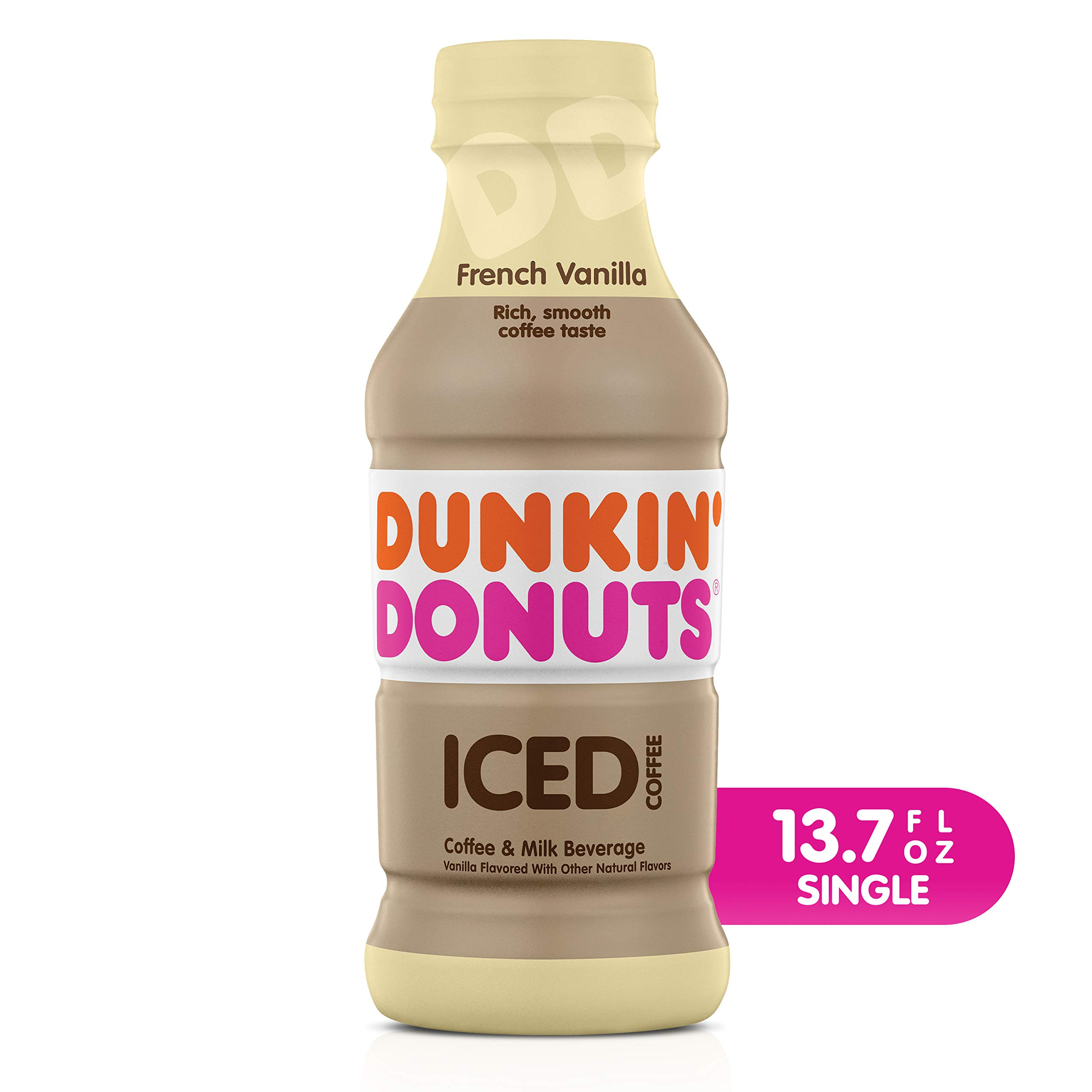 Dunkin' Donuts French Vanilla Iced Coffee Bottle, 13.7 fl oz
