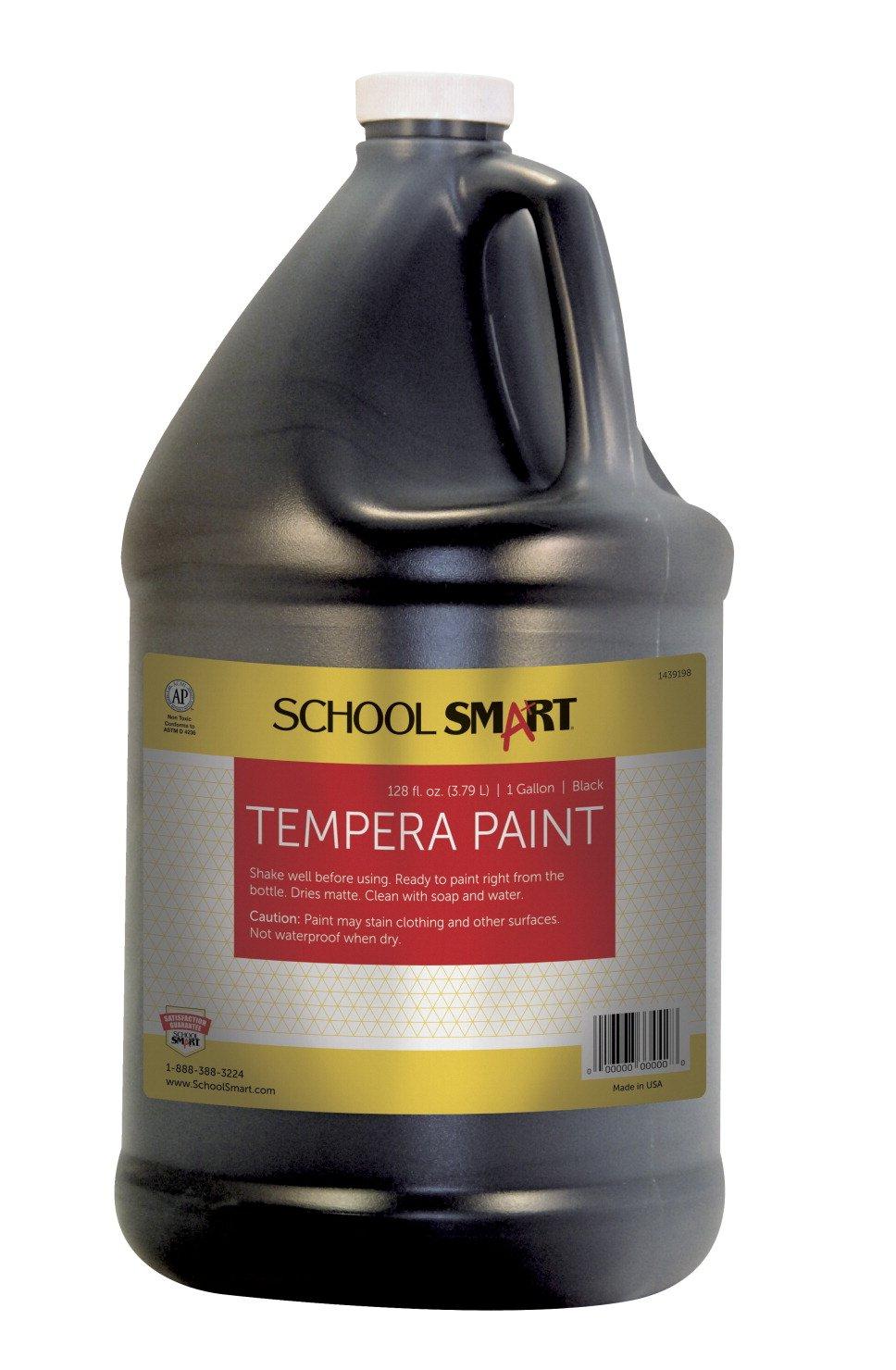 School Smart Tempera Paint - Gallon - Black