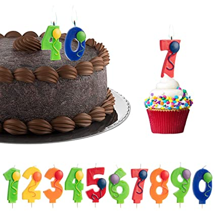 Amazon 10 Pack Numbers And Balloons Birthday Candles Wax