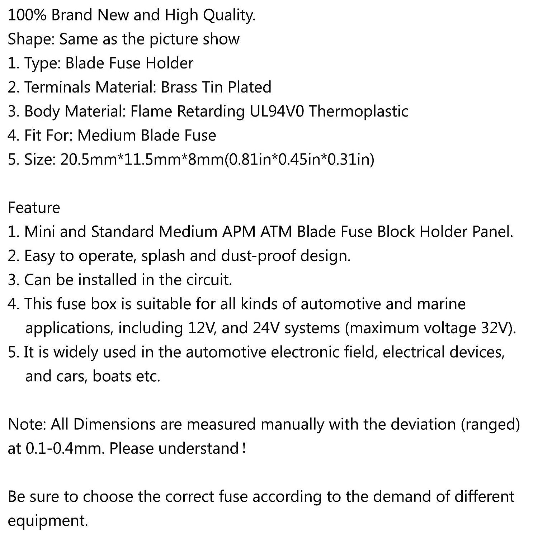 Yashikeji sl-506p Medium lama Portafusibile auto Automotive barca 32/V per PCB Board