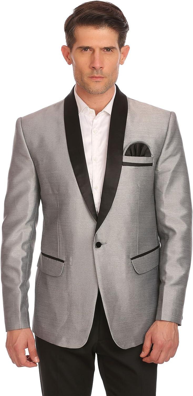 WINTAGE Men's One Button Shawl Collar Party Black Blazer Coat- Three Colors,