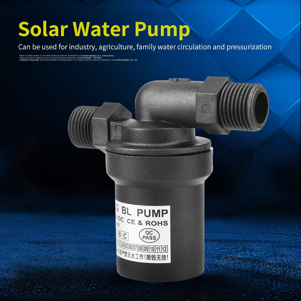 bomba de agua solar de circulaci/ón de agua Bomba de agua sin cepillo para el bombeo de circulaci/ón DC 12/V 10/W bomba de agua solar de alta temperatura