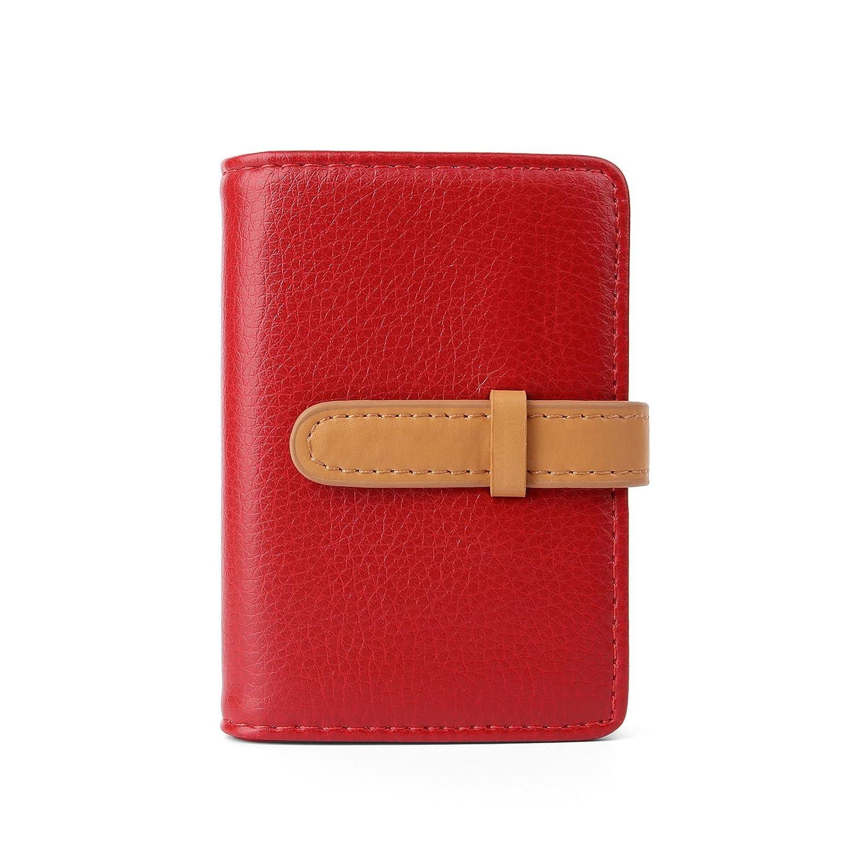 10 Farben Kreditkartenetui Damen Herren Kartenetui Leder 26 Karten Pink