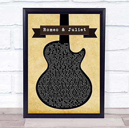 Dire Straits Romeo and Juliet - Póster de la canción de la ...