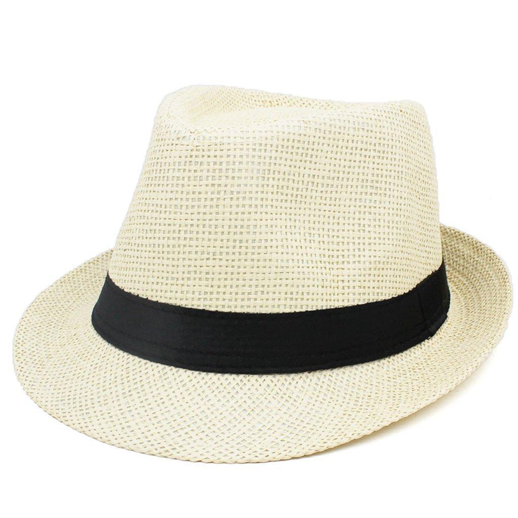 Women Fedoras Jazz Hat Sun Cap Bucket Men Summer Panama Beach Travel Cap