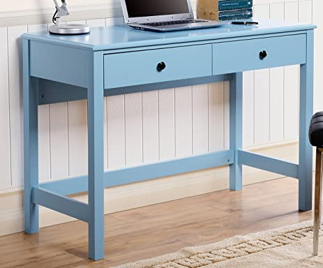 Homestar Othello Writing Desk With Single Drawer, Blue