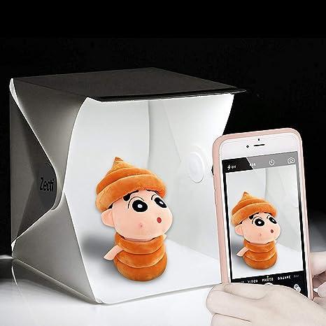 Mini Studio Fotografico Zecti Softbox Fotografico Con Sfondo Bianco