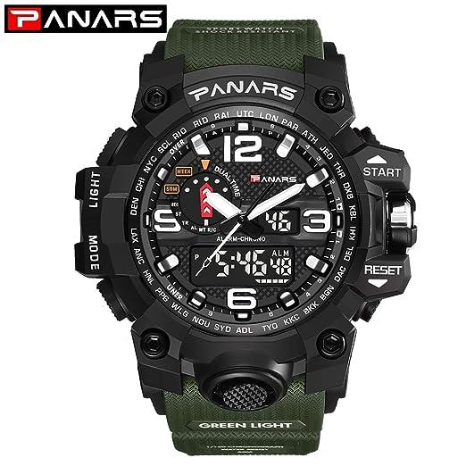 Kongqiabona Sport Reloj Digital Hombre Militray Relojes con Esfera Grande Reloj Impermeable para Hombre: Amazon.es: Relojes
