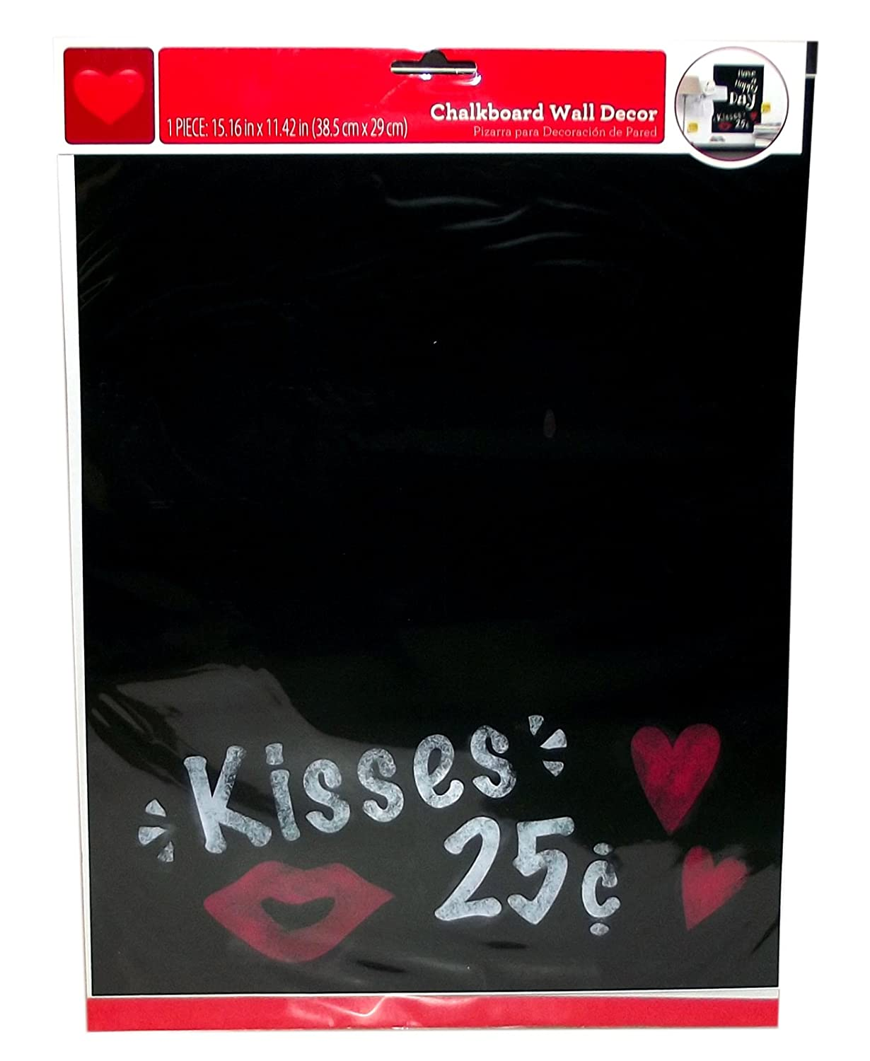 Amazon.com: Kisses Chalkboard Wall Decor 15.16 x 11.42 ...