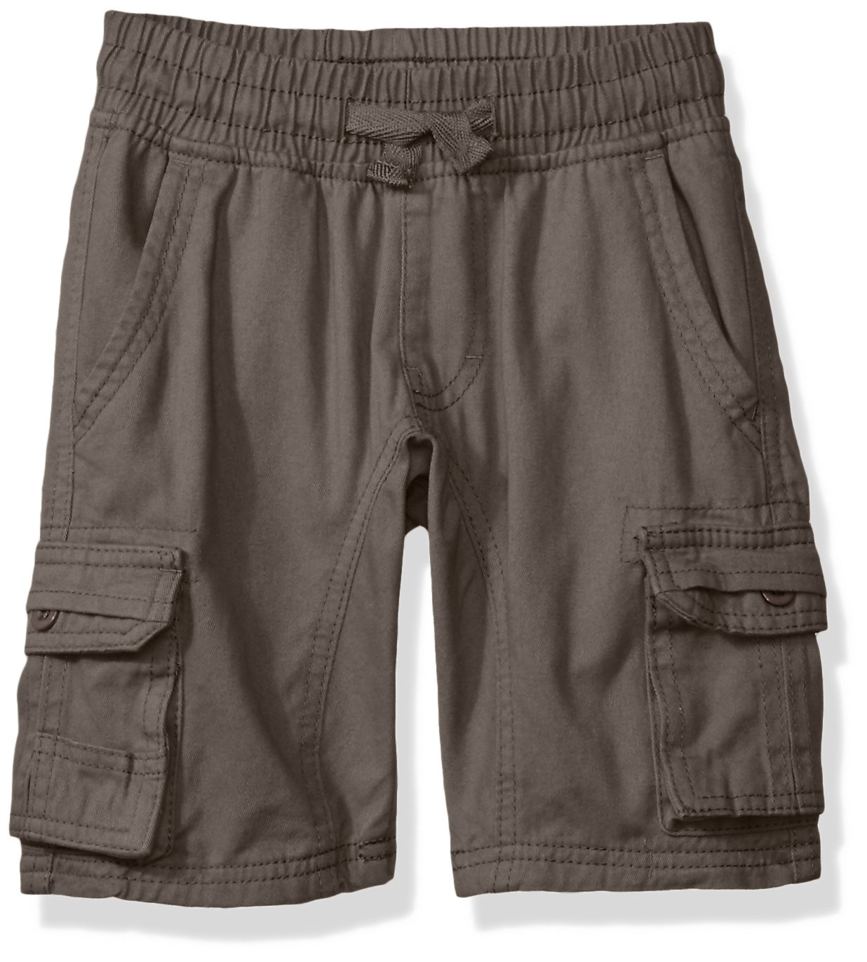 Southpole Little Boys' Mini Canvas Cargo Jogger Shorts In Basic Solid Colors, Dark Grey, Large