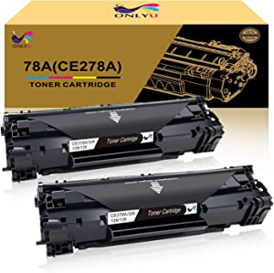 ONLYU Compatible Toner Cartridge Replacement for HP 78A CE278A Toner HP Laserjet P1606dn 1606dn HP Laserjet M1536dnf 1536dnf MFP HP Laserjet P1566 P1560 Toner Cartridge Printer (CE278A)