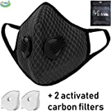 Tdas anti pollution mask for men women n95 n99 with filter air masks washable reusable pm 2.5 - with 2 filters