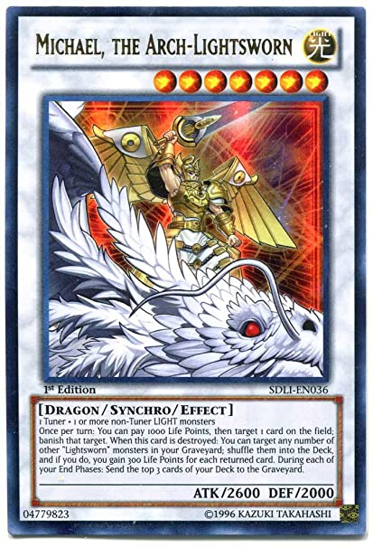 Yu-Gi-Oh!! - Michael, The Arch-Lightsworn (SDLI-EN036) - Structure Deck:  Realm of Light - 1st Edition - Ultra Rare