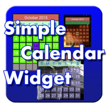 Amazon com: Simple Calendar Widget FREE: Appstore for Android