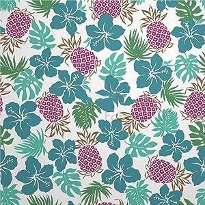 Bruyu5se Decorative Tile Stickers Set, Pineapple Pattern Plant Fruit Leaf Pattern Floral 8 x 8 Inch Peel & Stick Vinyl Tiles Floor Decal, 12 Units Waterproof Vinyl Wall Tiles Sticker for Home Decor