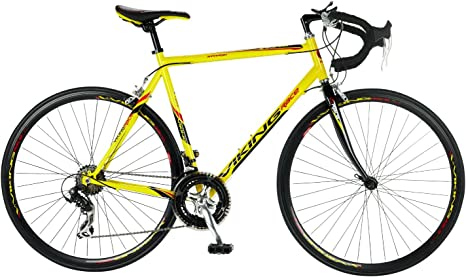 Viking - Bicicleta de carretera, color amarillo, talla 700C x 53 ...