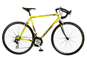 cf155f17801 Viking Men's Jetstream 14 Speed Road Race Bike - Yellow/Gloss Black, 59cm,