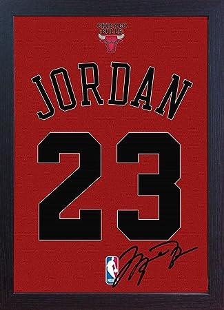 S&E DESING - lienzo 100% algodón y enmarcado de los Chicago Bulls ...