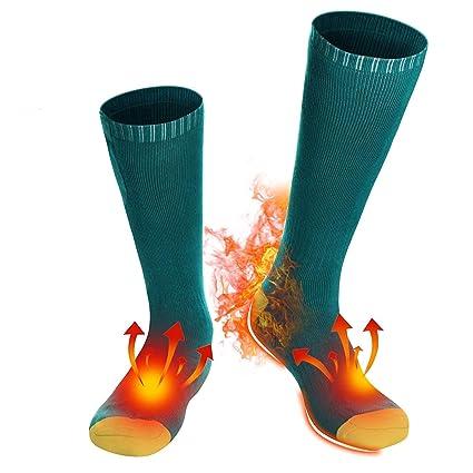 Svpro Calcetines térmicos recargables eléctricos de que funcionan con pilas Calcetines térmicos cómodos, clima frío