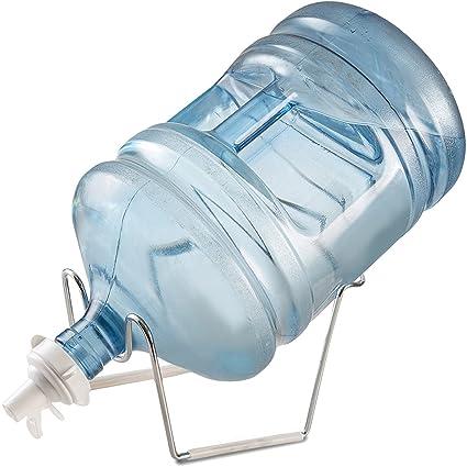 teekia Metal chapado en 3 – Jarra de agua de 5 galones Dispensador de soporte y