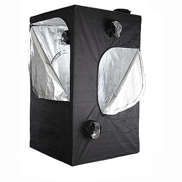Happyjoy 80cm x 80cm x 160cm Hydroponic 100% PVC Free Grow Tent Green Room Light  sc 1 st  Amazon UK & Happyjoy 80cm x 80cm x 160cm Hydroponic 100% PVC Free Grow Tent ...