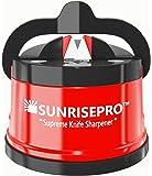 Afilador de Cuchillos SunrisePro Supreme para todos los tipos de cuchillas | Navaja de precisión y perfecta calibración | Fácil y seguro de usar | Ideal para la cocina, taller, salas de artesanía, campamentos y senderismo