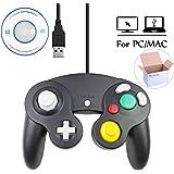 Mekela 5.8 feet Classic USB Wired NGC Controller Gamepad resembles Gamecube for Windows PC MAC (USB Black)