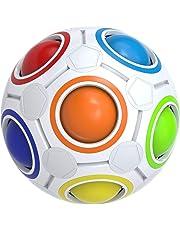 Buself Regenbogen-Puzzleball Spielzeug Zauberball für Konzentration Spiele Stressabbau Gehirntrainer für Mädchen und Jungen Geschenk für Kinder Geburtstag