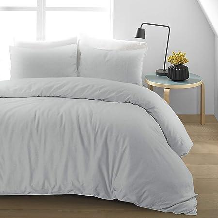 Copripiumino Lino.Nimsay Home Set Copripiumino In Cotone E Lino Cotone Lino Grey