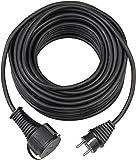 Brennenstuhl kwaliteitsverlengkabel van rubber, 10 m, IP44, kabel voor buiten, zwart