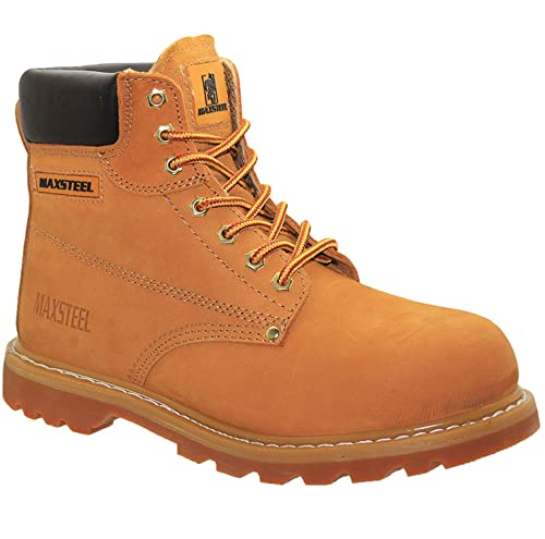 Mens Work Safety Shoes Leather Boots
