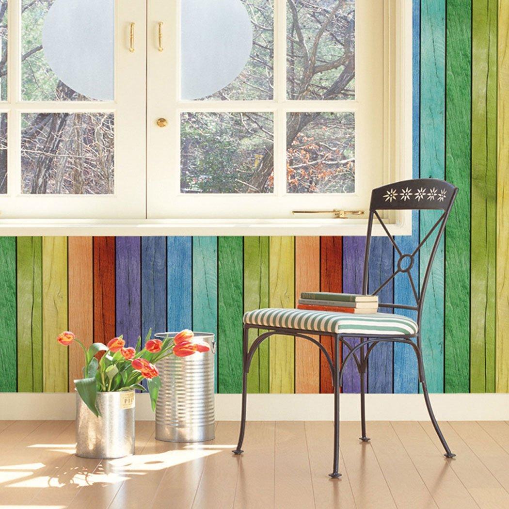 Dekorative selbstklebend Rainbow Holz Panel Maserung Kontakt Papier ...