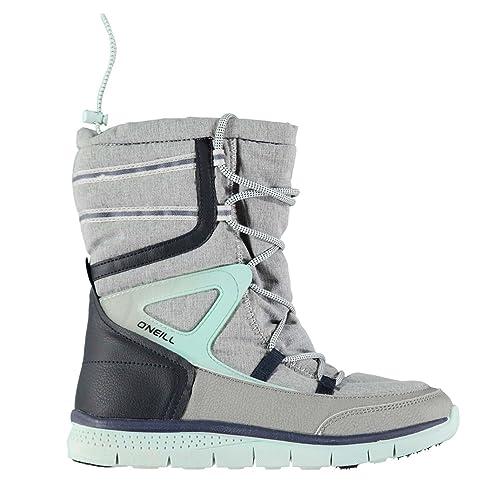69a12457540 Oneill Mujer Zephyr Melee Botas Nieve Invierno Cordones Textura Paneles Zapatos  Gris Claro 5 (38