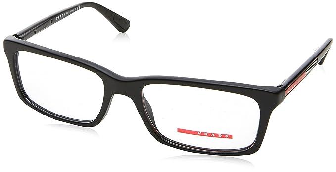 2c44a38817d4c spain prada linea rossa mens ps 02cv eyeglasses matte black 55mm 4a954 8b560