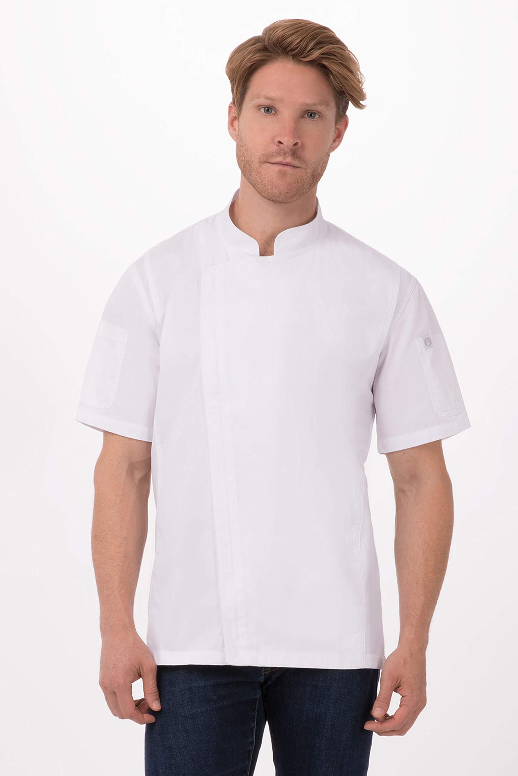 Chef Works Men's Rochester Chef Coat, White, X-Large by Chef Works