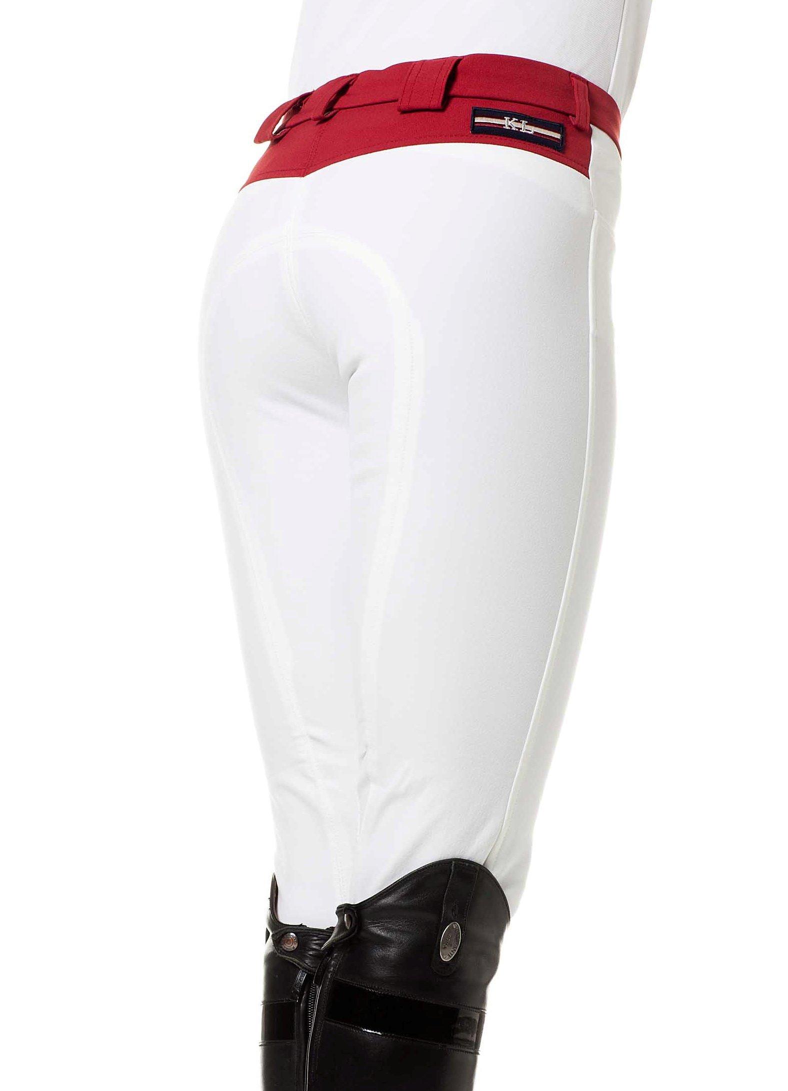 Kingsland Equestrian Women's Kingsland Jessica Style Breech-White/Red-Usa 24/Xs by Kingsland Equestrian
