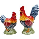 Appletree Design Barn Yard Rooster Salt and Pepper Set, 2-1/2-Inch, 2-Inch