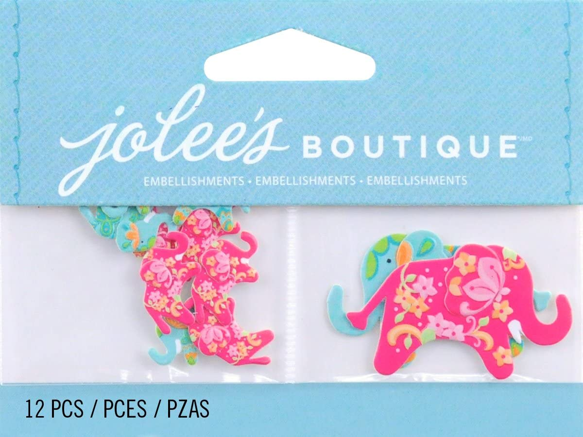 EK Success Jolees Boutique Scrapbooking Embellishment Mini Elephants